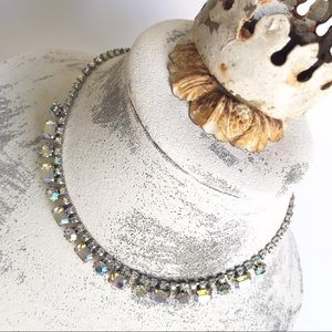 VTG Aurora Borealis Rhinestone Chocker Necklace
